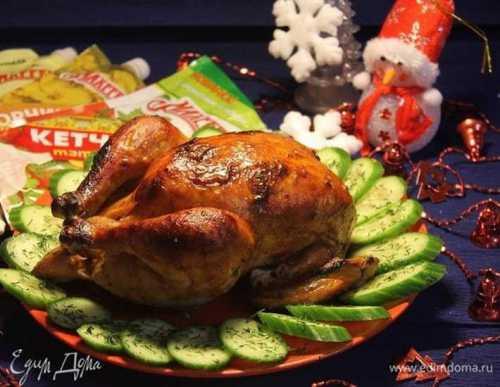 курица по-испански с оливками и сладким перцем